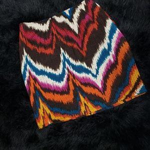 Dresses & Skirts - Abstract Tribal Print Skirt Size L